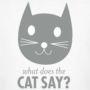 What Does The Cat Say T-Shirts - Männer Bio-T-Shirt