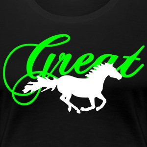 Galloping Horse T-Shirts - Frauen Premium T-Shirt