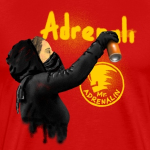graffiti Mr. Adrenalin T-shirts - Mannen Premium T-shirt