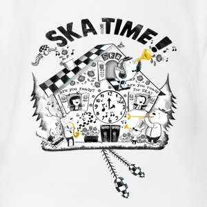 Ska Time Cuckoo Clock Shirts - Organic Short-sleeved Baby Bodysuit
