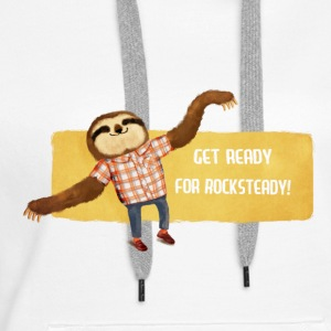 Rocksteady Sloth Hoodies & Sweatshirts - Women's Premium Hoodie