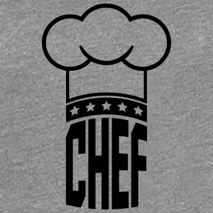Chef's hat star chef logo T-Shirts - Women's Premium T-Shirt