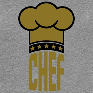 Chef's hat star Chief Gold logo T-Shirts - Women's Premium T-Shirt