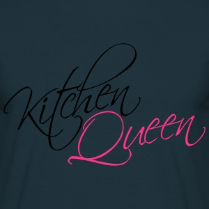 Kök Queen Text Logo Design T-shirts - T-shirt herr