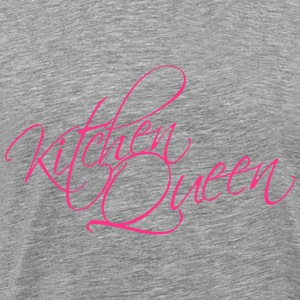 Kitchen Queen Text Logo Design T-Shirts - Men's Premium T-Shirt