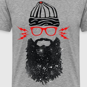 Nerd Beard Glasses - Men's Premium T-Shirt