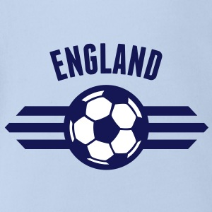 england badge iii 2c T-Shirts - Baby Bio-Kurzarm-Body
