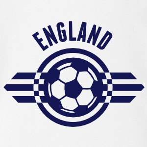 england / three lions badge ii 1c T-Shirts - Baby Bio-Kurzarm-Body