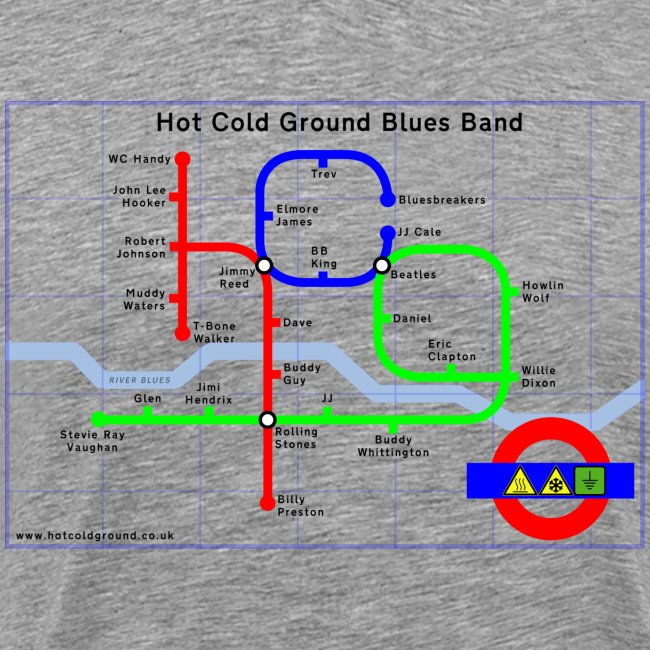 Hot Cold Ground Tube Map t-shirt
