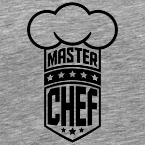 Cool Master Star Chef Design Logo T-Shirts - Men's Premium T-Shirt