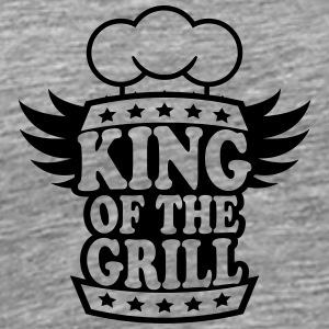 Cool King Of The Grill Logo Design T-Shirts - Men's Premium T-Shirt