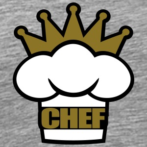 Head Chef's hat Crown T-Shirts - Men's Premium T-Shirt