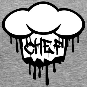 Chief graffiti chef's hat T-Shirts - Men's Premium T-Shirt