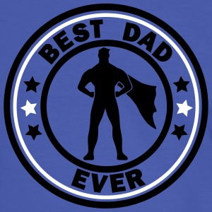 best dad ever superdad T-Shirts - Männer Kontrast-T-Shirt
