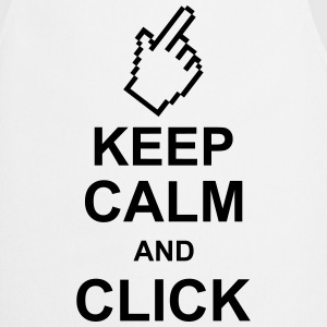keep_calm_and_click_g1 Tabliers - Tablier de cuisine