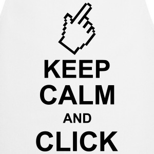 keep_calm_and_click_g1  Aprons - Cooking Apron