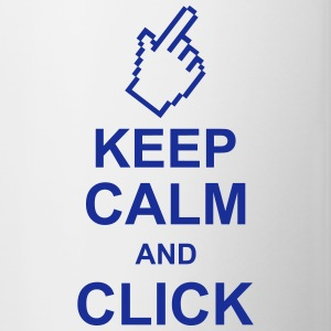 keep_calm_and_click_g1 Flasker & krus - Tofarvet krus