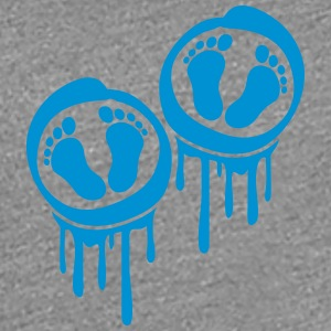 Twins of boys feet graffiti stamp T-Shirts - Women's Premium T-Shirt