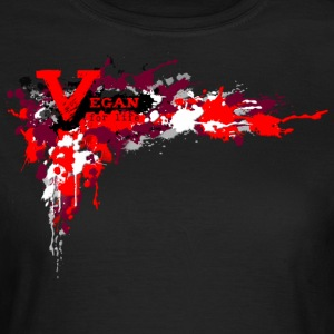 Vegan for Life - Splatter [red] - Frauen T-Shirt