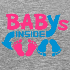 Babies inside twins two siblings T-Shirts - Men's Premium T-Shirt