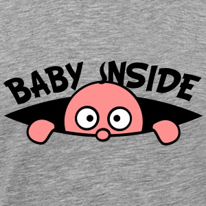 Baby look inside of the belly T-Shirts - Men's Premium T-Shirt