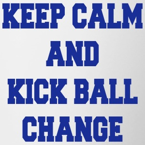 Keep calm and kick ball change Butelki i kubki - Kubek dwukolorowy