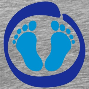 Baby feet foot footprint T-Shirts - Men's Premium T-Shirt