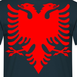 Albanian Eagle Herald Red T-Shirts - Men's T-Shirt