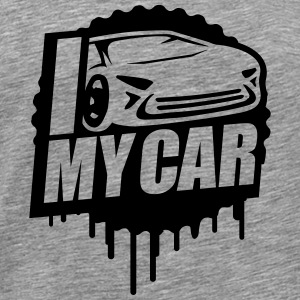 I Love My Car Cool Stamp T-Shirts - Männer Premium T-Shirt