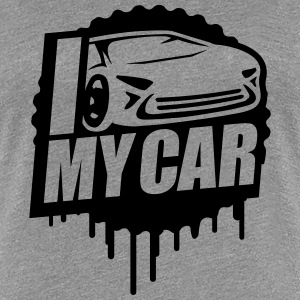 I Love My Car Cool Stamp T-Shirts - Frauen Premium T-Shirt