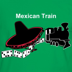 Mexican Train mit Hut T-Shirts - Männer Kontrast-T-Shirt