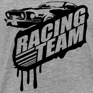 Racing Team Graffiti Stamp Design T-Shirts - Men's Premium T-Shirt