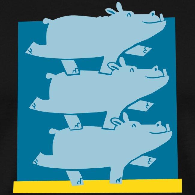 hippos Vektor