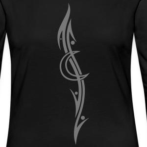 Tribal tattoo long sleeve shirts spreadshirt for Tribal tattoo shirt