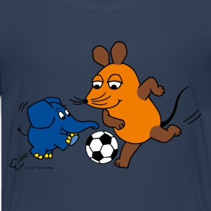 Teenagershirt - Maus und Elefant spielen Fussball - Teenager Premium T-Shirt