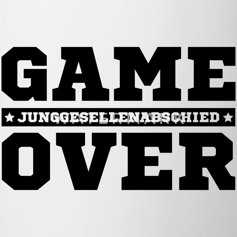 jga game over junggesellen abschied hochzeit party tasse. Black Bedroom Furniture Sets. Home Design Ideas