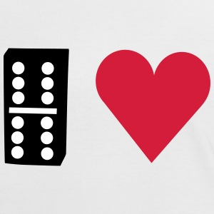I love Domino T-Shirts - Frauen Kontrast-T-Shirt