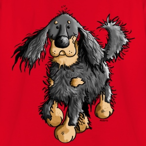 Running Gordon Setter - Dog  Shirts - Kids' T-Shirt