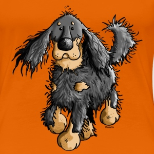 Running Gordon Setter - Dog  T-Shirts - Women's Premium T-Shirt
