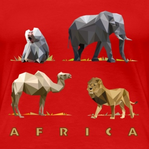 african_animals_06201401 T-Shirts - Frauen Premium T-Shirt