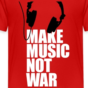 Make music not war Shirts - Teenage Premium T-Shirt