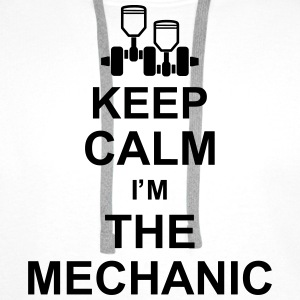 keep_calm_im_the_mechanic_g1 Bluzy - Bluza męska Premium z kapturem