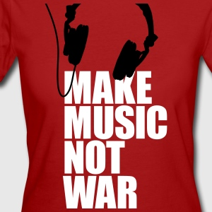 Make music not war T-shirts - Vrouwen Bio-T-shirt