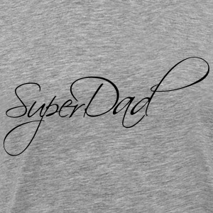 Super Dad Text Logo T-Shirts - Men's Premium T-Shirt