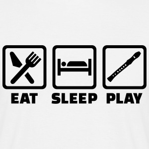 Eat sleep Flöte T-Shirts - Männer T-Shirt