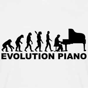 Evolution Piano T-Shirts - Männer T-Shirt