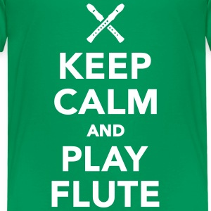 Keep calm and play Flute T-Shirts - Kinder Premium T-Shirt