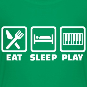 Eat sleep Klavier T-Shirts - Kinder Premium T-Shirt
