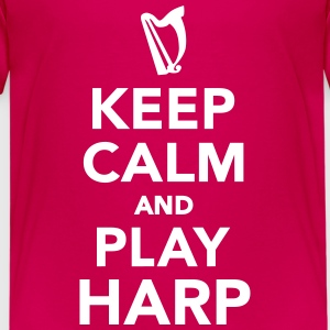 Keep calm and play Harp T-Shirts - Kinder Premium T-Shirt