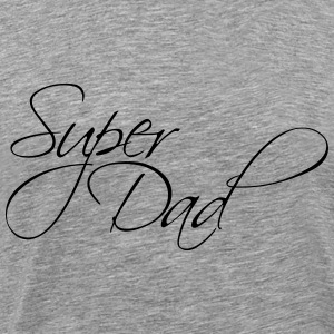 Cool Super Dad Text Logo T-Shirts - Men's Premium T-Shirt